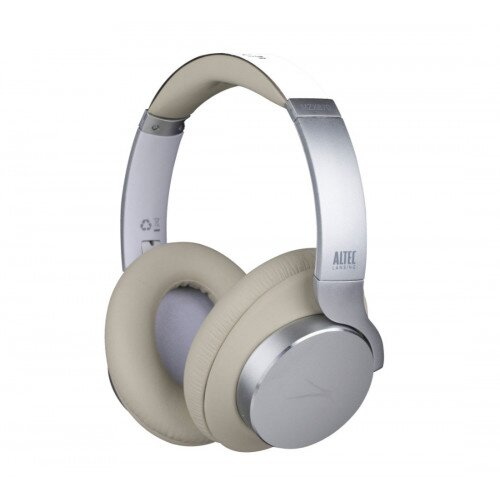 Altec Lansing ComfortQ+ Active Noise Cancelling Over-Ear Headphones - White