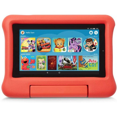 Amazon Kid-Proof Case for Fire 7 Tablet (Compatible with 9th Generation Tablet, 2019 Release) - Punch Red