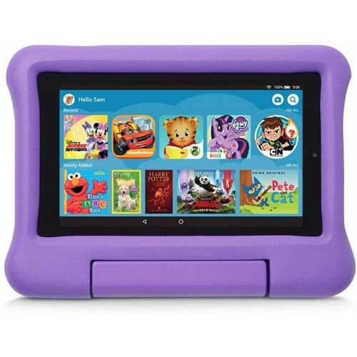 Amazon Kid-Proof Case for Fire 7 Tablet (Compatible with 9th Generation Tablet, 2019 Release) - Purple