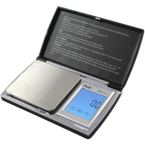 American Weigh BT2 1KG Digital Pocket Scale - 1000x0.1g