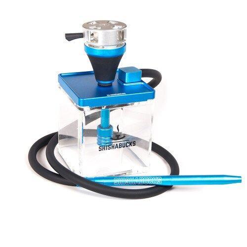 Shishabucks Cloud Micro + Sky Bowl + Stratus - Blue - Gold Bowl - Regular (20-25g) - Regular Stratus