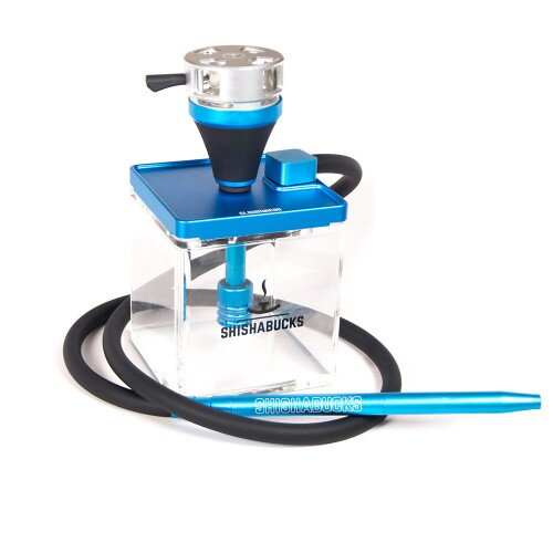 Shishabucks Cloud Micro + Sky Bowl + Stratus - Blue - Grey Bowl - Mini (10-15g) - Regular Stratus