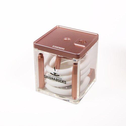 Shishabucks Cloud Micro + Sky Bowl + Stratus - Rose Gold - Red Bowl - Regular (20-25g) - Regular Stratus
