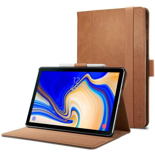 Spigen Galaxy Tab S4 Case Stand Folio - Brown