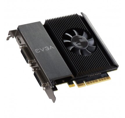 EVGA GeForce GT 710 2GB (Single Slot, Dual DVI) Graphics Card