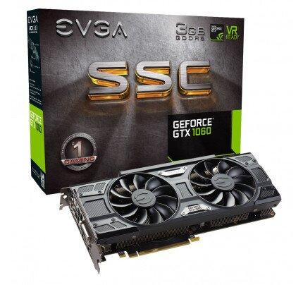 EVGA GeForce GTX 1060 SSC Gaming, 3GB GDDR5, ACX 3.0 & LED Graphics Card