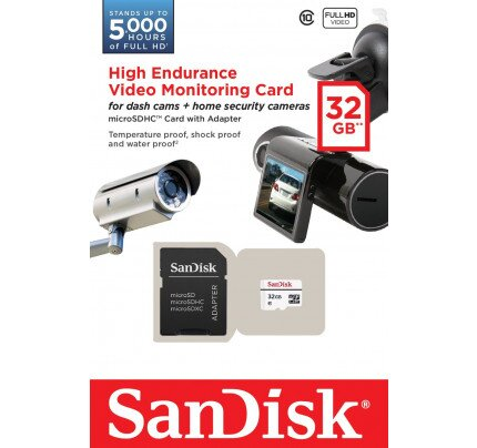 SanDisk High Endurance Video Monitoring microSD Card