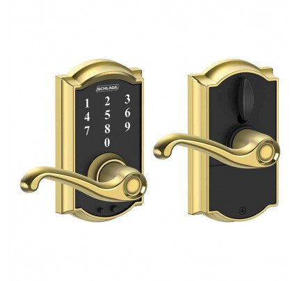 Schlage Touch Keyless Touchscreen Lever with Camelot Trim and Flair Lever