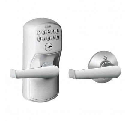 Schlage Keypad Lever with Plymouth Trim and Elan Lever with Auto Lock