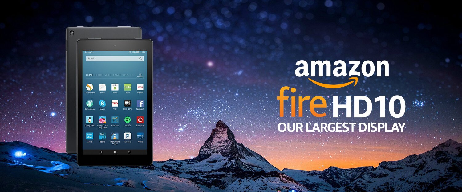 Amazon Fire HD 10 Tablet with Alexa Hands-Free, 10.1
