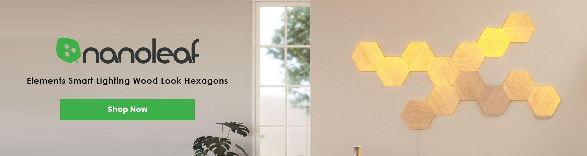 Nanoleaf Elements Smart Lighting Wood Look Hexagons