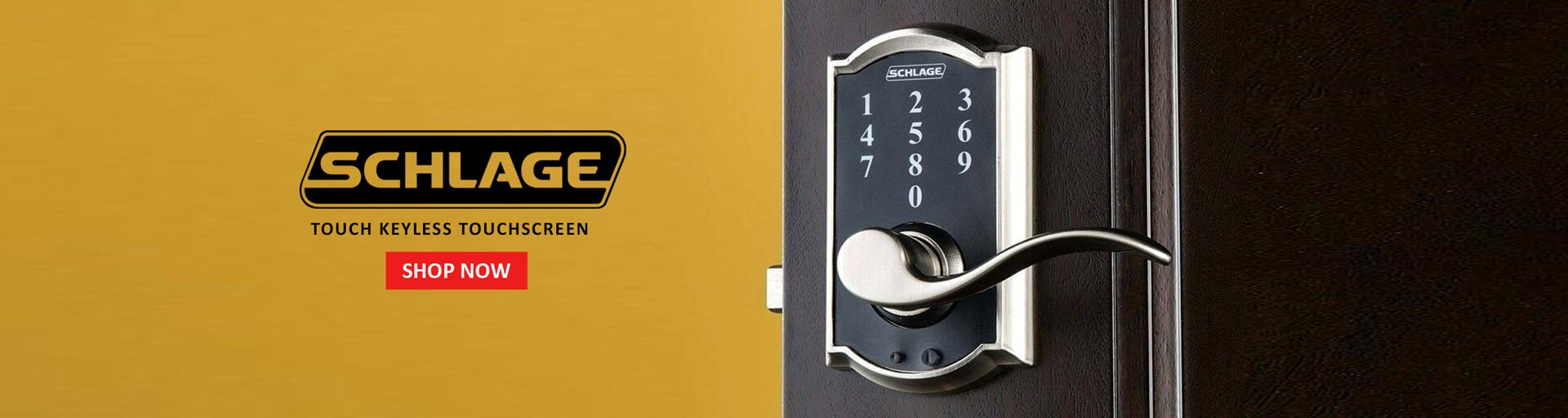 Schlage Touch Keyless Touchscreen Lever with Camelot Trim and Accent Lever